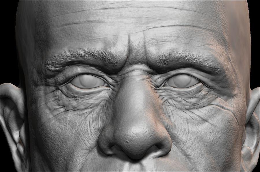 Высоко детализированное среднее мужское лицо с ультрафиолетом и низким поли royalty-free 3d model - Preview no. 6