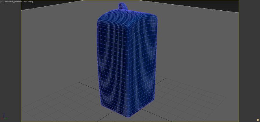Cartoon Refrigerator royalty-free 3d model - Preview no. 8