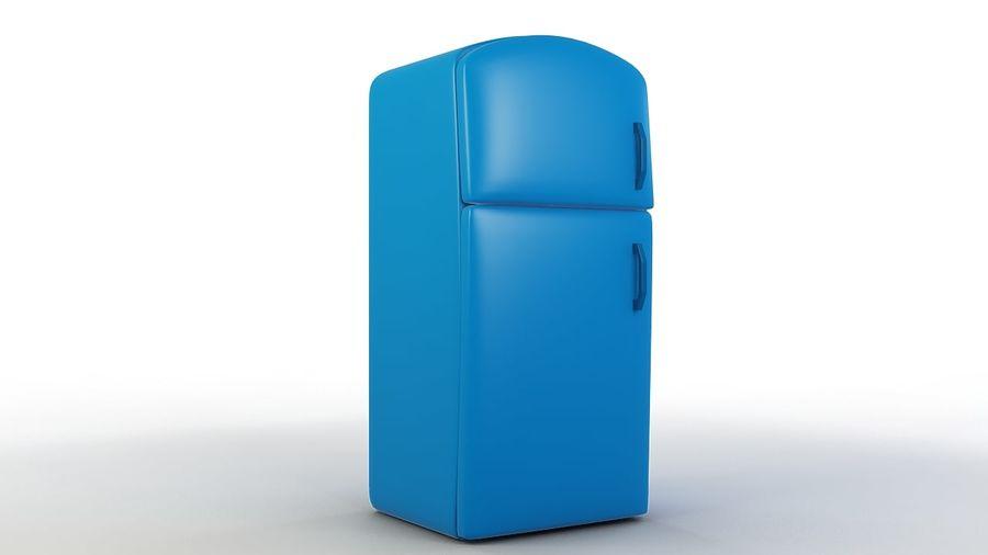 Cartoon Refrigerator royalty-free 3d model - Preview no. 1