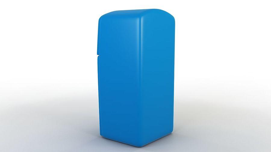Cartoon Refrigerator royalty-free 3d model - Preview no. 5
