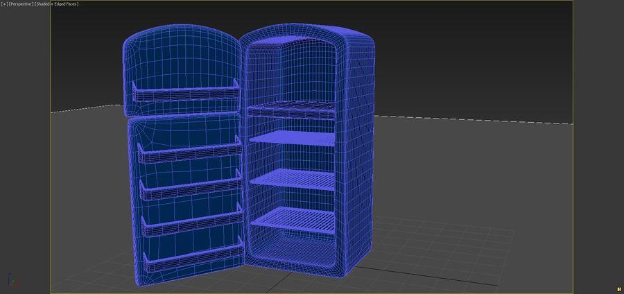 Cartoon Refrigerator royalty-free 3d model - Preview no. 7