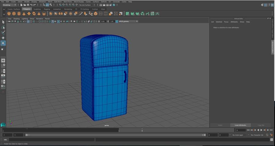 Cartoon Refrigerator royalty-free 3d model - Preview no. 9