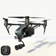 DJI Inspire 2.0 Quadcopter Low Poly 3d model