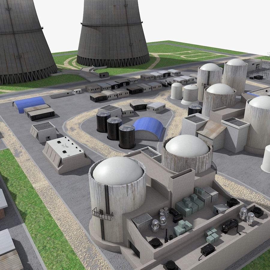 Watts Bar Nuclear Plant royalty-free 3d model - Preview no. 6