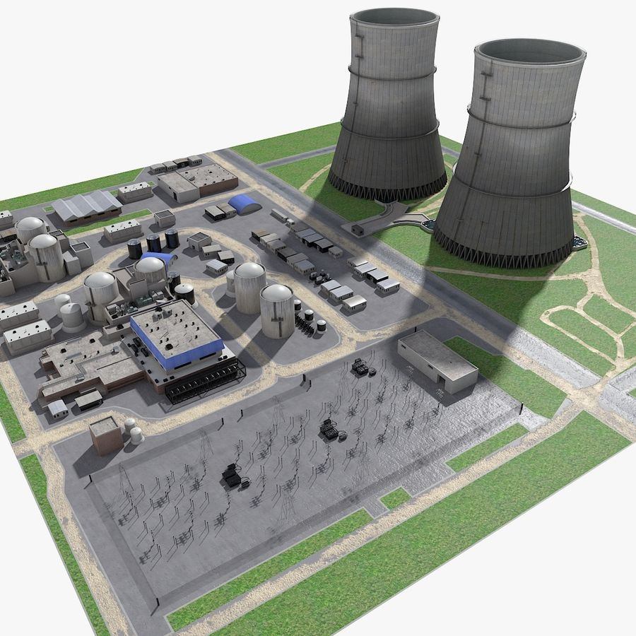 Watts Bar Nuclear Plant royalty-free 3d model - Preview no. 4