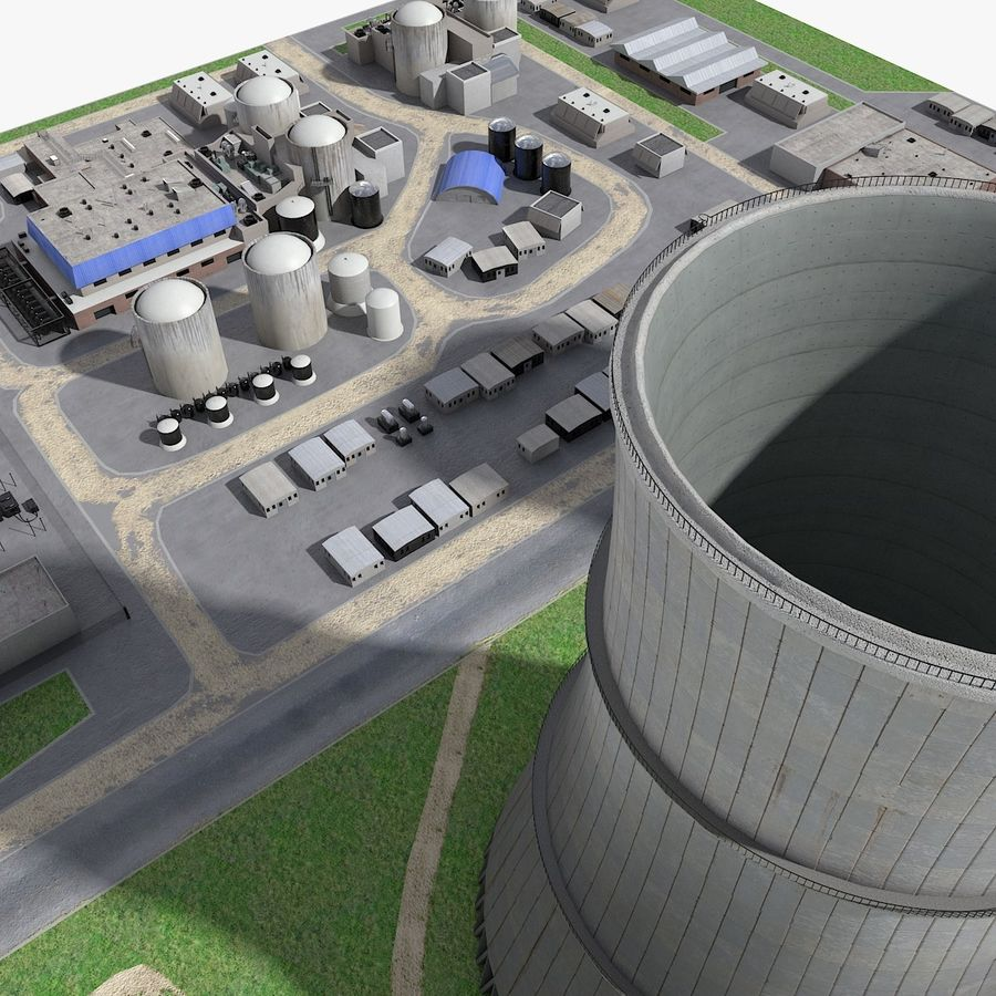 Watts Bar Nuclear Plant royalty-free 3d model - Preview no. 8
