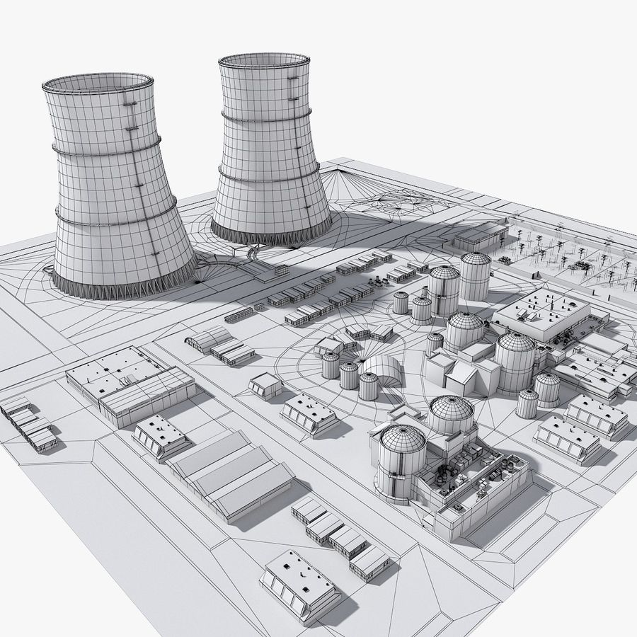 Watts Bar Nuclear Plant royalty-free 3d model - Preview no. 10