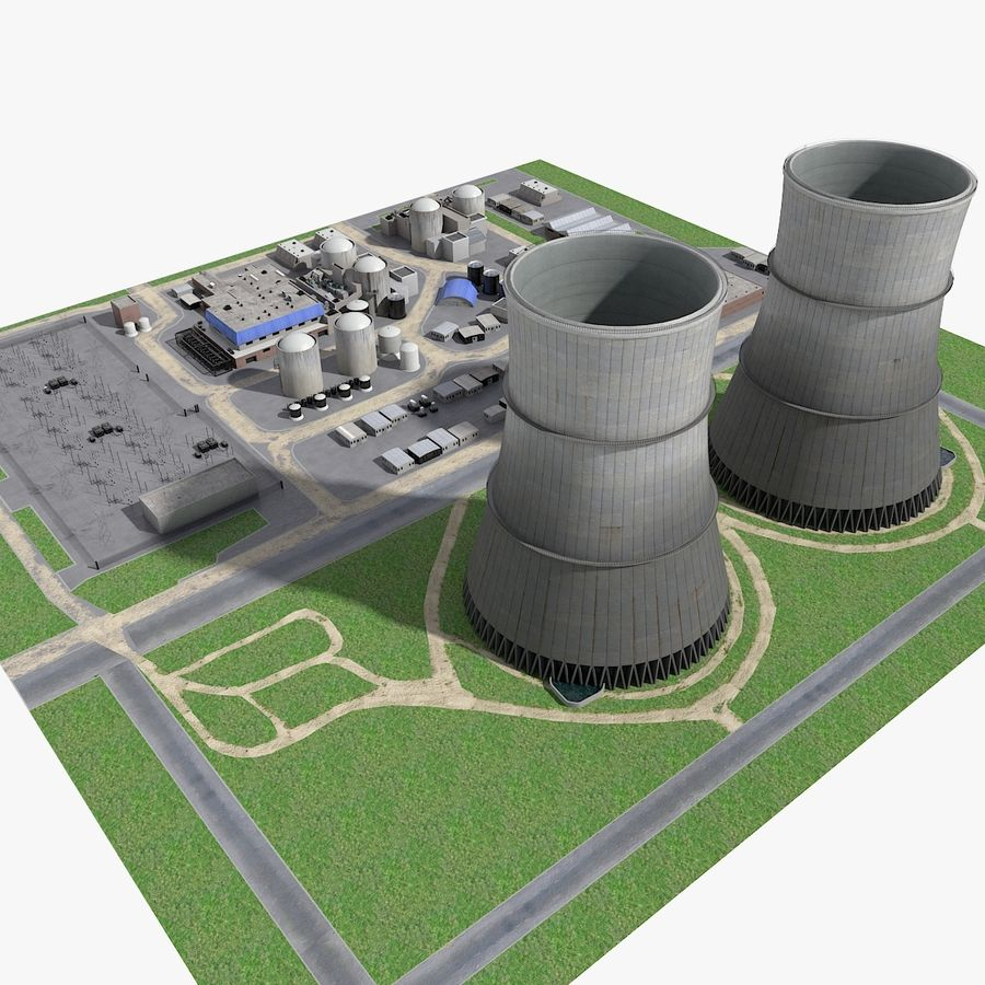 Watts Bar Nuclear Plant royalty-free 3d model - Preview no. 3
