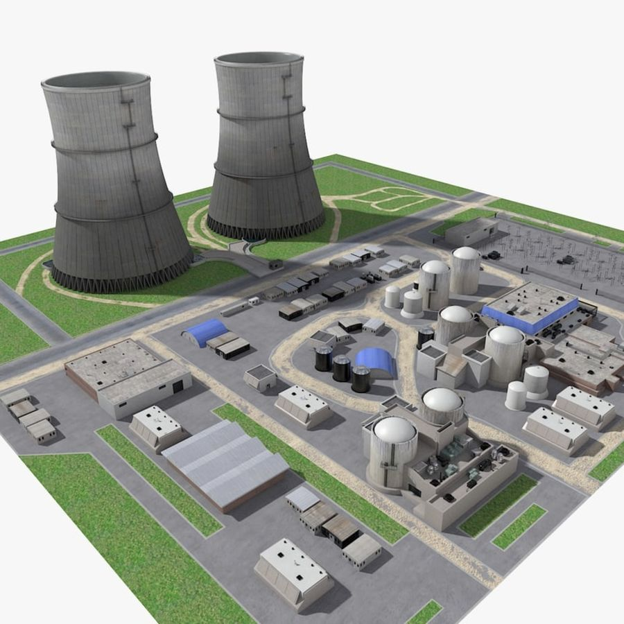 Watts Bar Nuclear Plant royalty-free 3d model - Preview no. 1