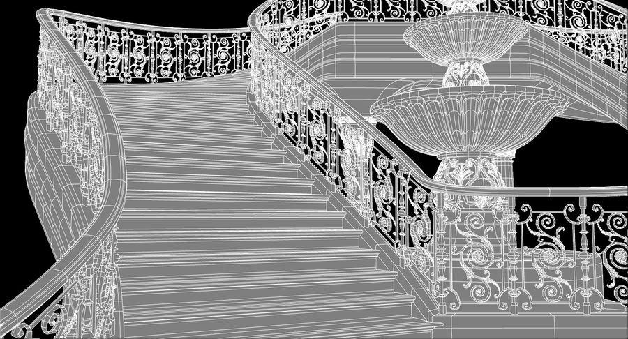 楼梯X3 royalty-free 3d model - Preview no. 12