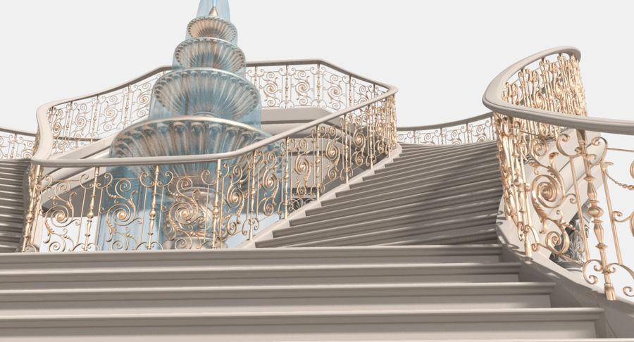 楼梯X3 royalty-free 3d model - Preview no. 4