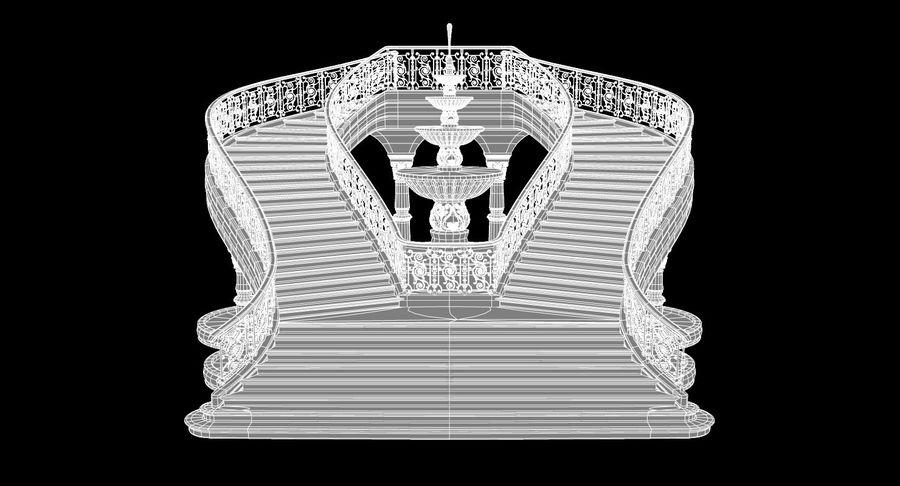 楼梯X3 royalty-free 3d model - Preview no. 13