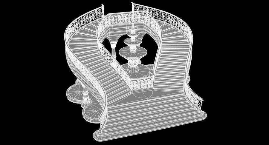 楼梯X3 royalty-free 3d model - Preview no. 8