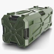 SciFi Konteyner 4 Yeşil 3d model