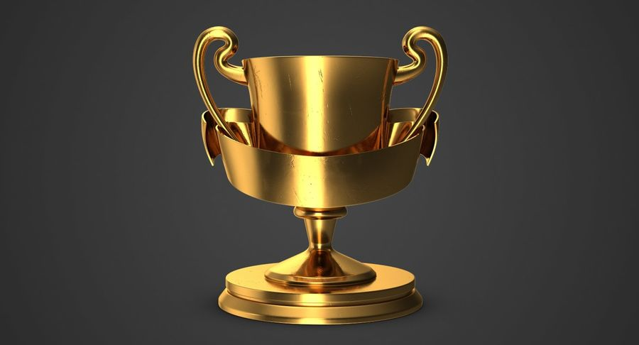 Trophy 2 Cup royalty-free 3d model - Preview no. 3