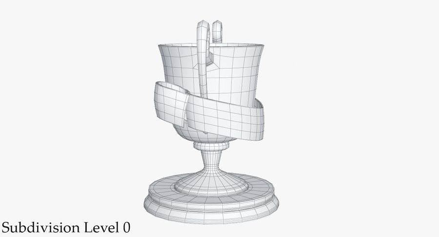 Trophy 2 Cup royalty-free 3d model - Preview no. 12