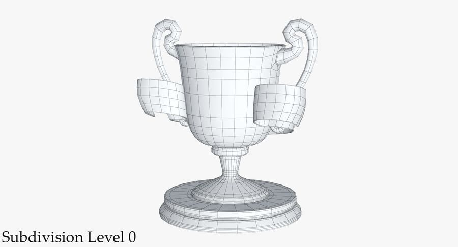 Trophy 2 Cup royalty-free 3d model - Preview no. 14