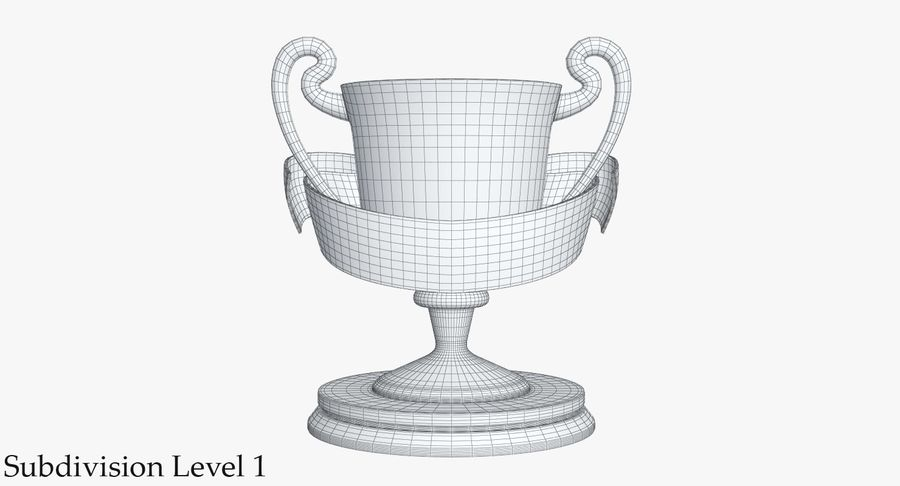 Trophy 2 Cup royalty-free 3d model - Preview no. 11