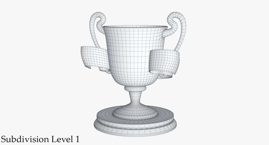 Trophy 2 Cup royalty-free 3d model - Preview no. 15