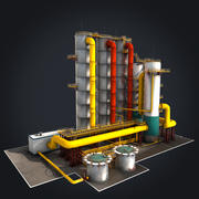 Fabryka chemiczna 3d model