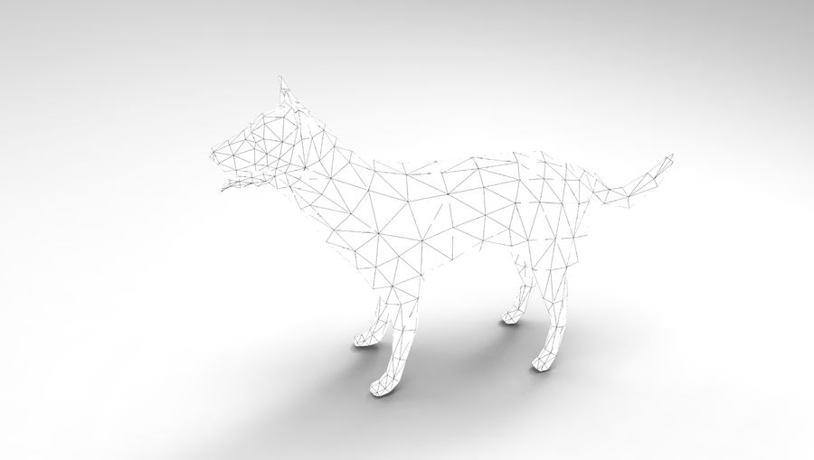 dog rigged(1) royalty-free 3d model - Preview no. 24