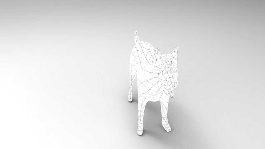dog rigged(1) royalty-free 3d model - Preview no. 29