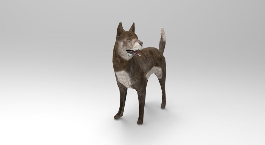 dog rigged(1) royalty-free 3d model - Preview no. 3