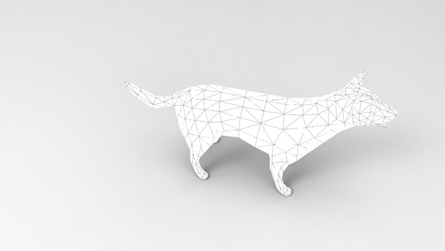 dog rigged(1) royalty-free 3d model - Preview no. 30