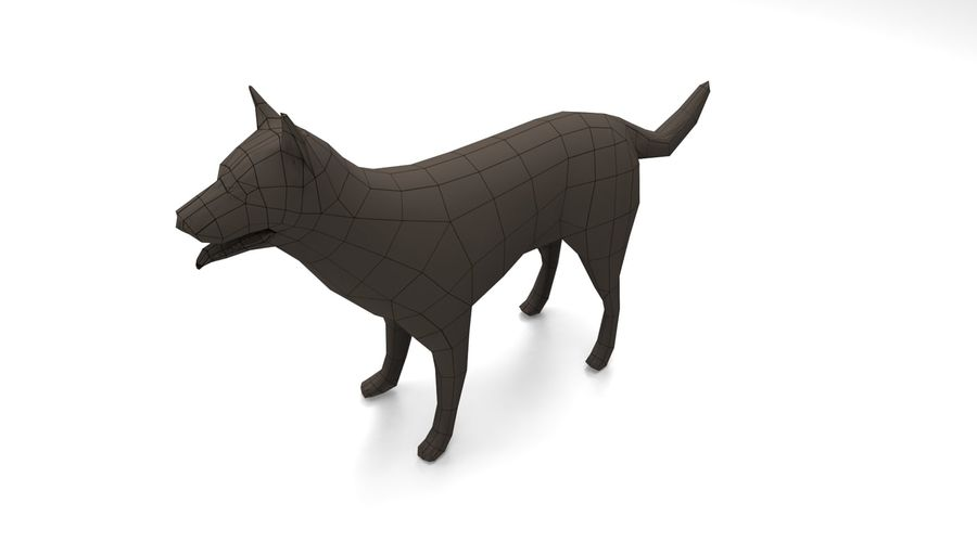 german shepherd dog rigged royalty-free 3d model - Preview no. 19