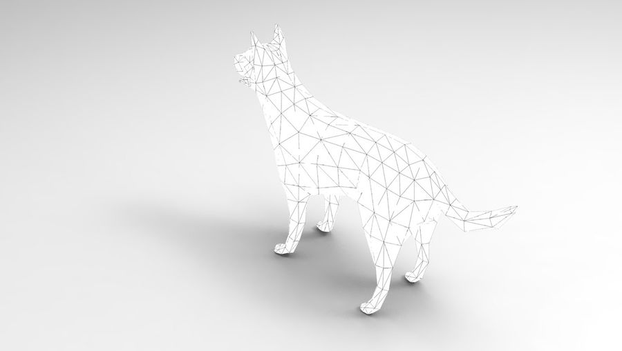 german shepherd dog rigged royalty-free 3d model - Preview no. 24