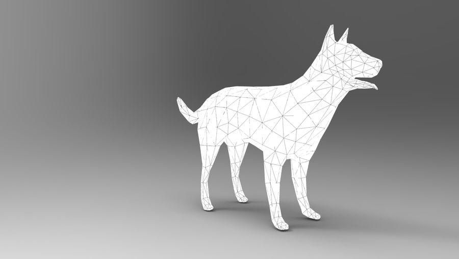 german shepherd dog rigged royalty-free 3d model - Preview no. 27