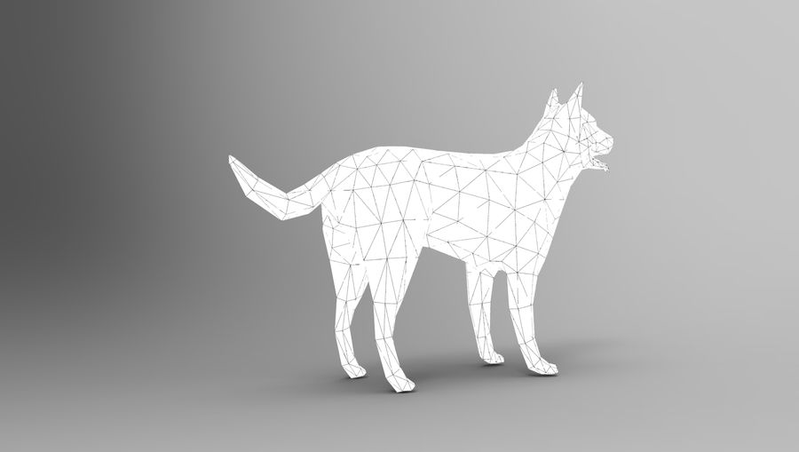 german shepherd dog rigged royalty-free 3d model - Preview no. 26