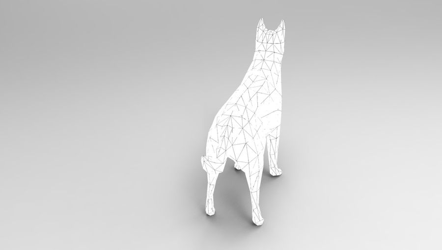 german shepherd dog rigged royalty-free 3d model - Preview no. 25