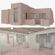 Adobe house one interior + exterior full 3d model