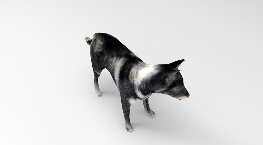 dog rigged royalty-free 3d model - Preview no. 8