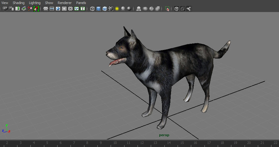 dog rigged royalty-free 3d model - Preview no. 28