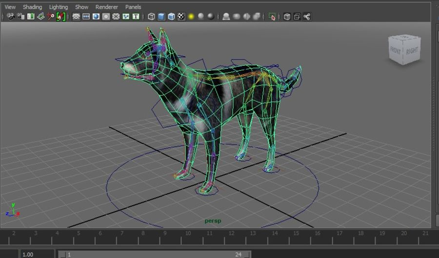 dog rigged royalty-free 3d model - Preview no. 29