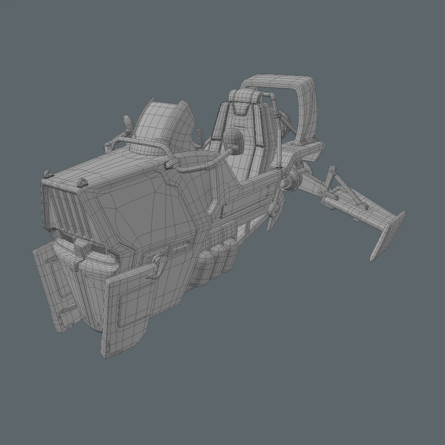 Hover Bike royalty-free 3d model - Preview no. 16