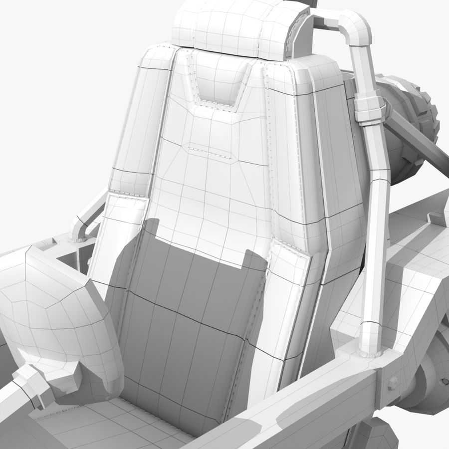Hover Bike royalty-free 3d model - Preview no. 14
