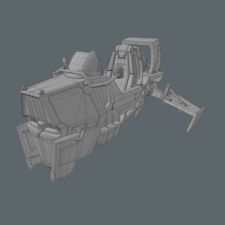 Hover Bike royalty-free 3d model - Preview no. 15