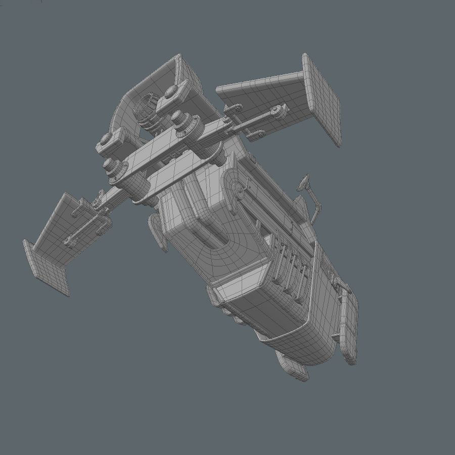 Hover Bike royalty-free 3d model - Preview no. 18