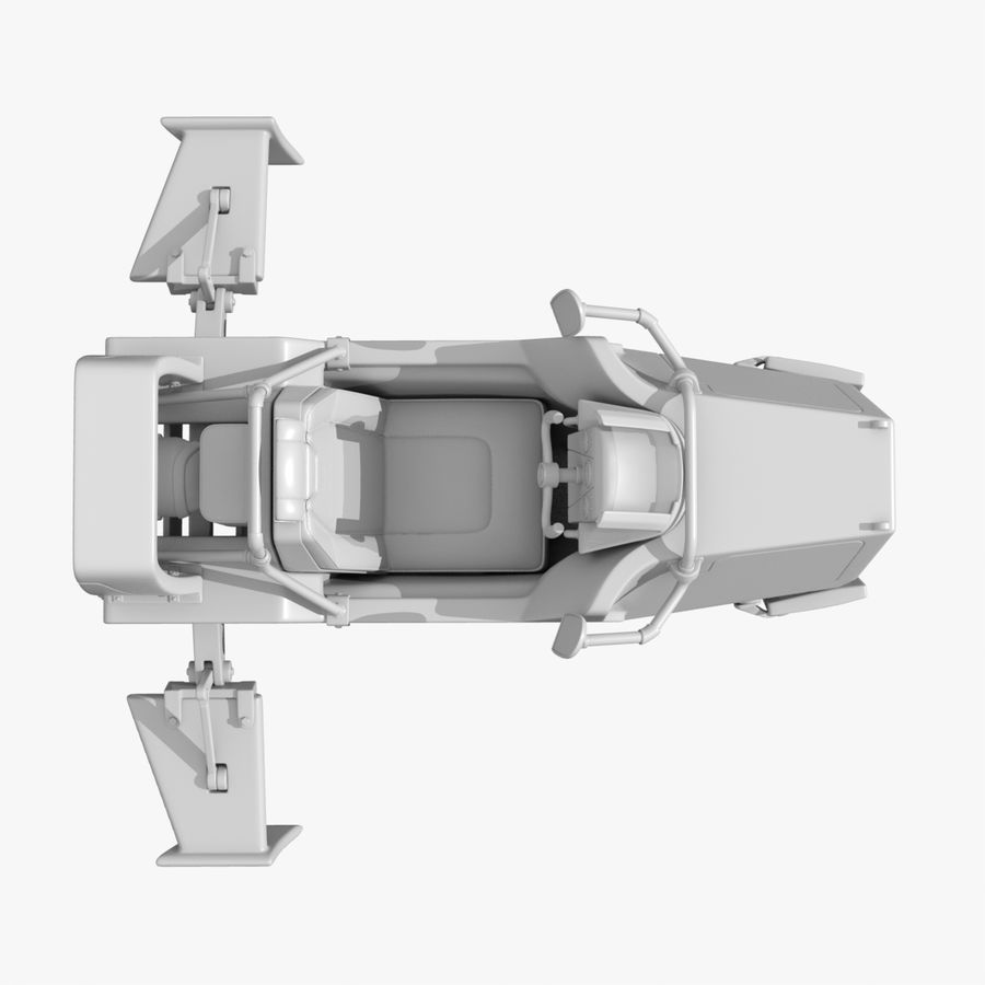 Hover Bike royalty-free 3d model - Preview no. 11