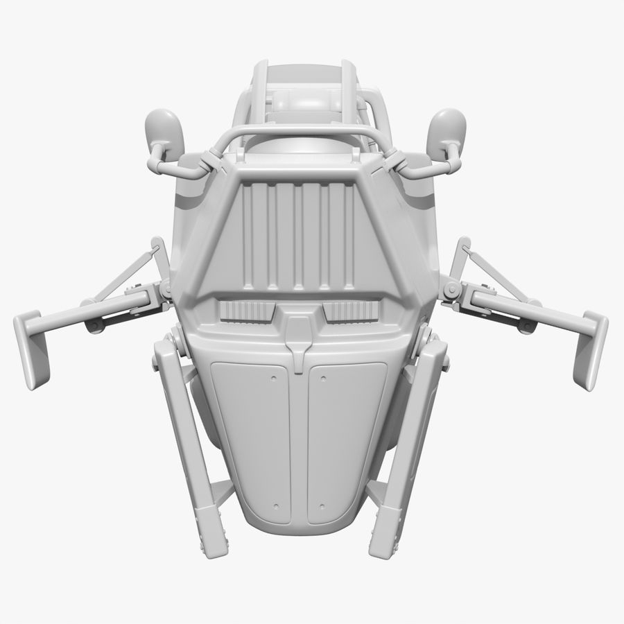 Hover Bike royalty-free 3d model - Preview no. 7