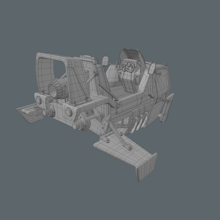 Hover Bike royalty-free 3d model - Preview no. 17