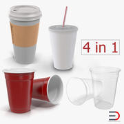 Disposable Cups Collection 3d model