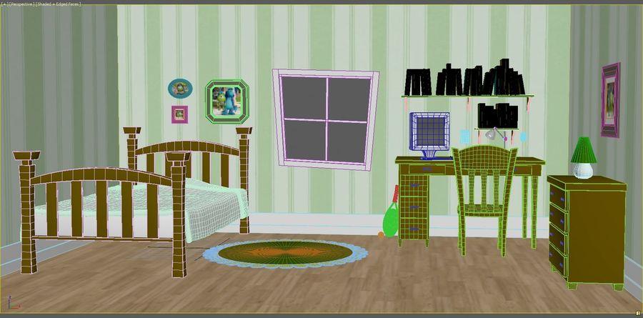 Cartoon Room royalty-free 3d model - Preview no. 4