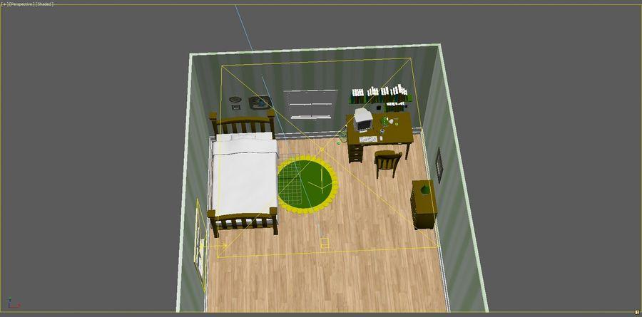 Quarto dos desenhos animados royalty-free 3d model - Preview no. 5