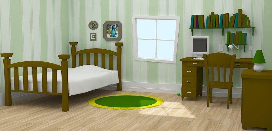 Quarto dos desenhos animados royalty-free 3d model - Preview no. 3