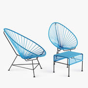 Acapulco Chair Ottoman 3d model