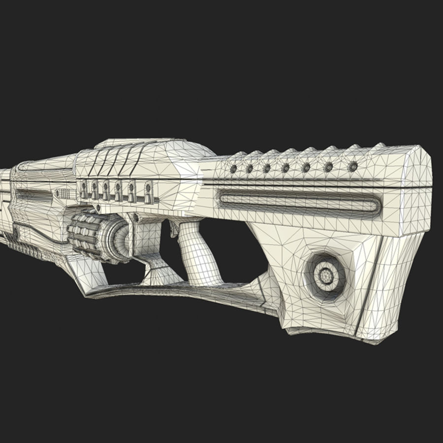 Sci-fi weapons royalty-free 3d model - Preview no. 9